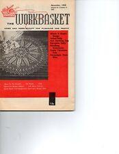 November 1958 Workbasket Knit Crochet Tatting Mint condition