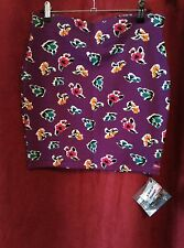 Emily Sharp Body-con Mini Skirt- vintage purple floral jersey. Large