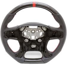 Custom Steering Wheel 15-19 GMC Sierra Pickup Truck Hydro Carbon w/ Leather