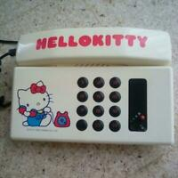 Vintage Hello Kitty Dial Telephone -White
