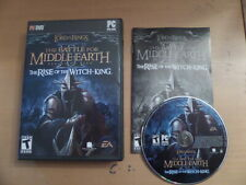 Lord Of The Rings The Rise Of The Witch King Expansion Pack Box & Manual PCDVD*