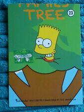 Los Simpsons árbol familiar celebraciones de aniversario número de tarjeta 23 Bart Conjunto de 9