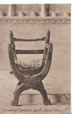 Hampshire Postcard - Winchester Cathedral - Queen Marys Chair - Ref ZZ6036