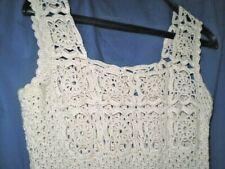 Vintage  Knit dress dress is crocheted,  Hand-knitted-dress-beautiful ecru