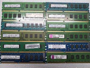 12 Sticks of Kingston Hynix Samsung DDR3 RAM  - 6 x 1GB, 6 x 2GB, 18GB Total