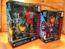 LOT 2 Transformers Studio Series 86 Dinobot Slug, Daniel & Hot Rod NEW-IN HAND