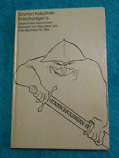 ENTSCHULDIGEN`S - Szymon KOBYLINSKI - Gezeichnete Aphorismen INSEL-Bücherei 964