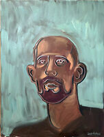 "Self Portrait Abstract Oil Painting 18""x24"" Signed Original on Canvas"