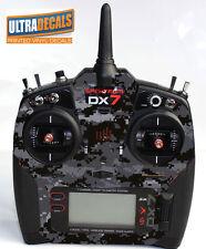 Black Camouflage Spektrum DX6 DX7 DX8 Gen 2 Transmitter Radio Skin Wrap Decal...