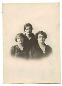 "VTG Sepia Toned 4"" x 5 1/2"" Photograph Motoyoshi 3 Women in a Family"
