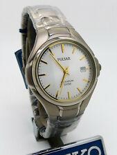 Pulsar PG8 021 SEIKO Titanium Quartz Mineral GlassWristwatch New