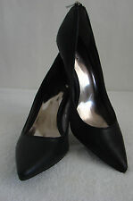 CARLOS SANTANA Black Leather Pointed Toe Pumps 9 NWOT