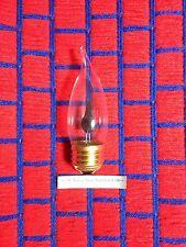 Box of 18 FLICKER FLAME LIGHT BULB 3 watt bent tip 3w REGULAR medium base ~ NEW