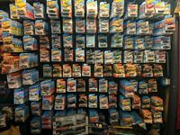 Lot Of 100 Random Matchbox /Hot Wheels Good Condition On Card w/ some variants