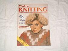 KNITTING MACHINE MAGAZINE WORLD OF KNITTING NOVEMBER 1985