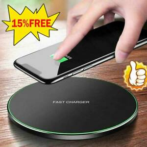 QI Wireless Charger Fast Charging Pad For Apple iPhone 11 12 Pro X XR XS Max 8