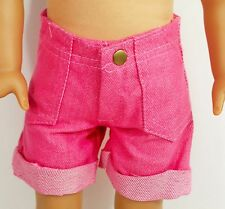 "DOLL SHORTS For American Girl or any 18"" Doll  New Hot Pink Clothes Accessories"