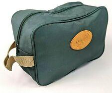 Lacrosse Toiletry Bag Shaving  Kit Bag Travel Bag Green Vintage New