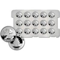 2017 China Silver Panda (30 g) 10 Yuan - BU Original Capsule - Tray of 15 Coins