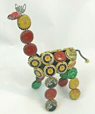 African Folk Art Bottle Cap Giraffe Kenya Handmade RAHA Castle Krest Sparletta