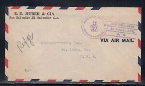 EL SALVADOR Commercial Cover San Salvador to St. Louis 11-11-1941 Cancel
