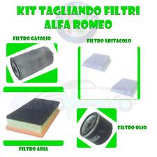 KIT TAGLIANDO ALFA ROMEO 147 GT 1.9 JTD JTDM 4 FILTRI OLIO ABITAC ARIA GASOLIO