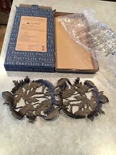 Partylite Forest Leaves Double Jar Holder NIB! P92821