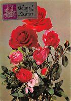 B52101 fleurs flowers roses bonne annee france new year