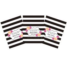 Personalised Chocolate Bar Wrapper Custom Design Printable DIY Black White Flora