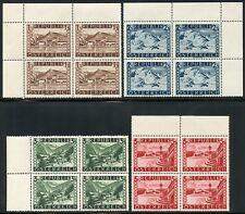 AUSTRIA SITES SCOTT#496/99 BLOCKS OF FOUR MINT NEVER HINGED--SCOTT VALUE $219.80