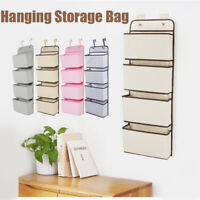 4 Tier Over The Door Hanging Shoe Rack Organiser Stand Shelf Holder Storage Bags