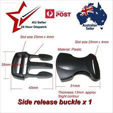 """25mm Black Plastic Side Release Buckle x 1 (1"""")    webbing belt strap clip 25 mm"""