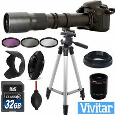 HD TELESCOPE ZOOM LENS 500-1000MM +32GB KIT FOR CANON EOS REBEL T3 T3I T5 T5I T2