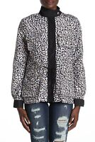 Vigoss Women's Jacket White Size Small S Leopard Printed Front-Zipped $88 #009