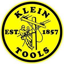 """Klein Tools Logo Decal Sticker Electrician Journeyman / LINEMAN 6"""" Round"""