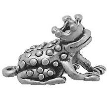 "Sterling Silver Charms Frog Prince Grams H 3/4"" X W 5/8""  Princess Kiss Frog"