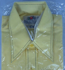 VTG 70s Fruit of the Loom Golden Harvest Collection Disco Shirt Sz M 15-15.5 NWT