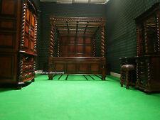 Super king tudor canopy four poster chambre à coucher ensemble 100% acajou massif lit bruit