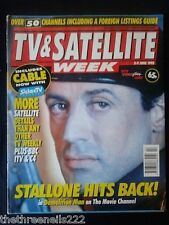 TV & SATELLITE WEEK - SYLVESTER STALLONE - 3 JUNE 1995