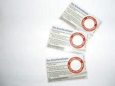3 x Steinschlagpflaster Erste Hilfe für die Windschutzscheibe / Glasreparatur
