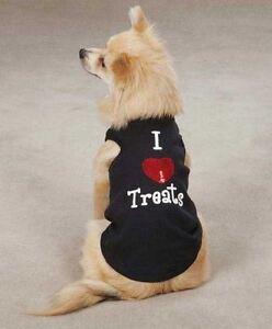 I LOVE TREATS Zack & Zoey Dog Tank Top Shirt  XXS-L  HEART TREATS