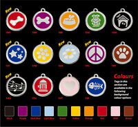 Red Dingo Dog/Cat ID Tags Free Engraving-Lifetime Guarantee S/M/L Dogfish uk