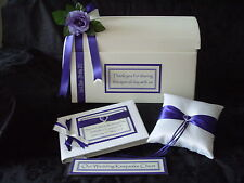 Personalised Wedding Post Chest Card Box Guest Book Ring Cushion