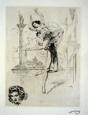 Lobel-Riche RARE Drypoint Etching - Strictly Come Dancing! Dancing Couple