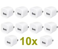 LOT 10x 1A USB Wall Charger AC Power Adapter US Outlet FOR iPhone 3 4 5 6+plus