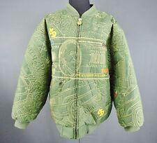 Oversized 3XL Green Money Coat Five Elementz Get Dapper! Dollar $ Puffy Puffer