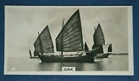 Chinese Sailing Junk    Shanghai     Original 1928 Photo Card