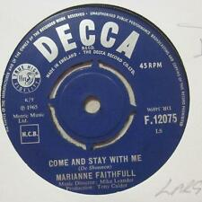 "Marianne Faithful(7"" Vinyl)Come And Stay With Me / What Hane I Done Wrong-Ex/VG+"