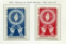 19007) UNITED NATIONS (New York) 1953 MNH** Nuovi** Human  Rights