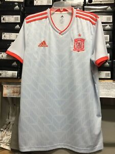 adidas spain Away   soccer jersey 2018-19 Gray Red Size XXL  Only